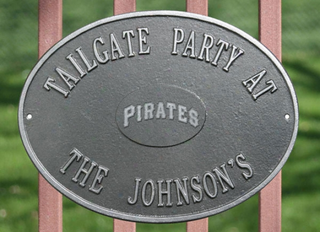 Pittsburgh Pirates Pewter And Silver Personalized Indoor/outdoor Plaque