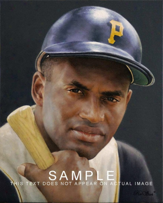 Pittsburgh Pirates - &quotroberto Clemente&quot - Large - Framed Giclee