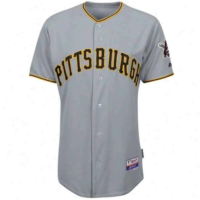 Pittsburgh Pirates Road Grey Authentic Cool Baseã¢â�žâ¢ On-field Jersey