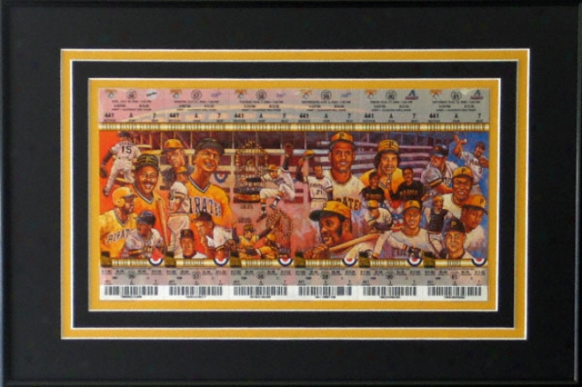 Pittsburgh Pirates Ticket Sehet Frame