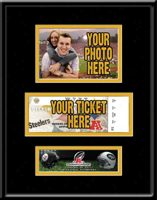 Pittsburgh Steelers 2010 Afc Championship Photo & Ticket Frame