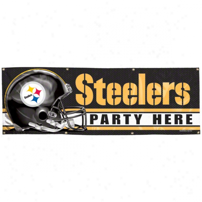 Pittsburgh Steelers 2x6 Vinly Banner