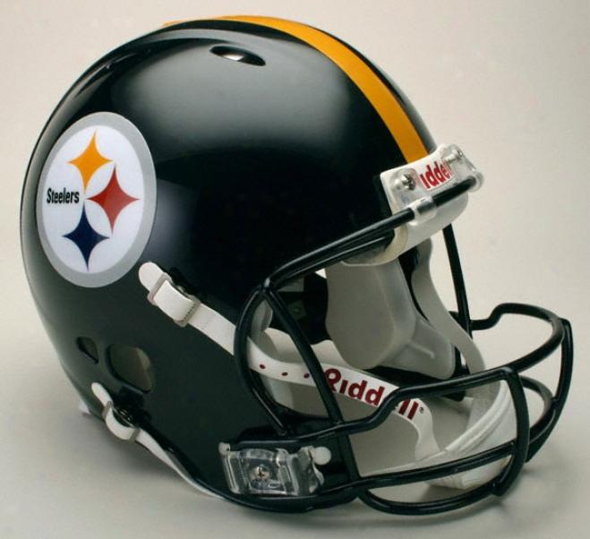 Pittsburgh Steelers Authentic Pro Line Revolution Riddell Full Size Helmet