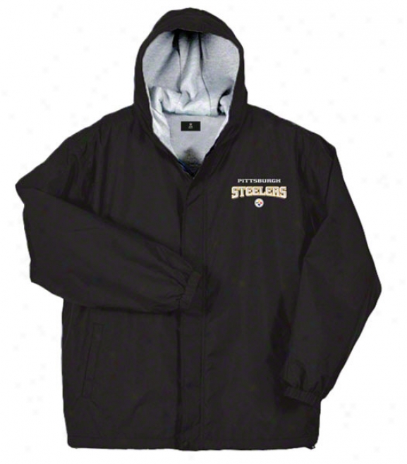 Pittsburgh Steelers Jacket: Black Reebok LegacyJ acket
