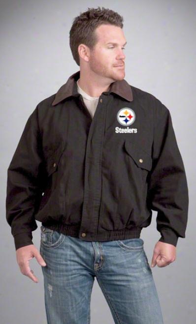 Pittsburgh Steelers Jacket: Black Reebok Navigator Jacket