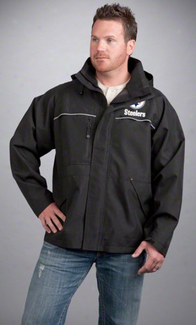 Pittsburgh Steelers Jacket: Black Reebok Yukon Jacket