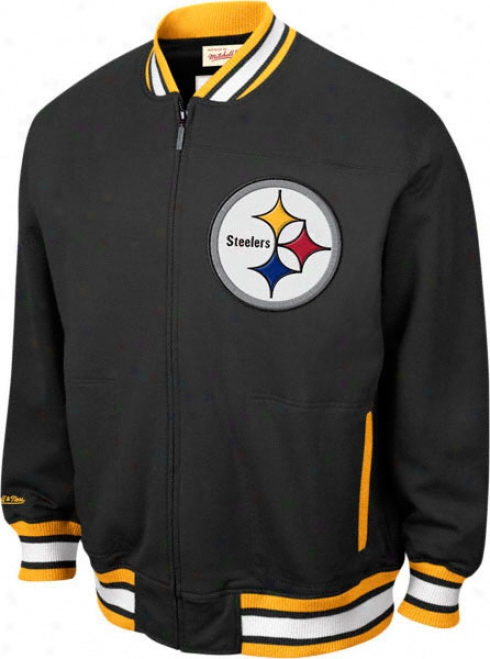 Pittsburgh Steelers Mitchell & Ness Sideline Track Jackrt
