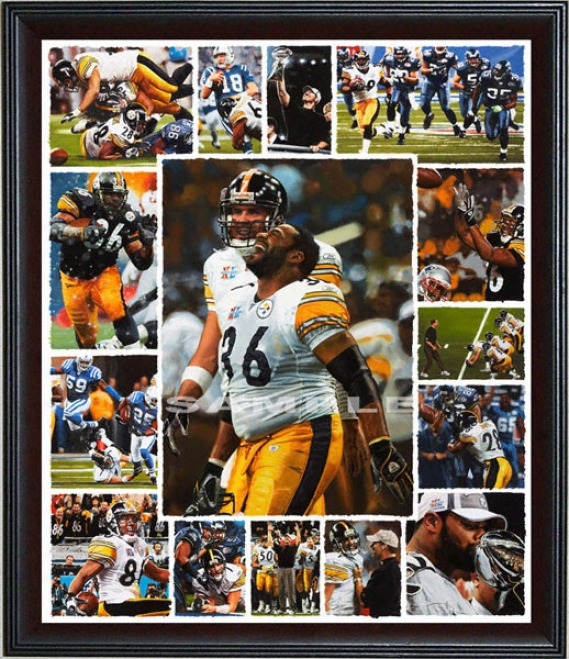 Pittsburgh Steelers - &quot06 Champions&quot - Oversized - Framed Giclee