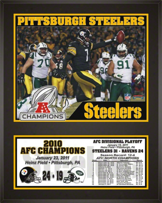 Pittsbrrgh Steelers Sublimated 12x15 Plaque  Details: 2010 Afc Champions