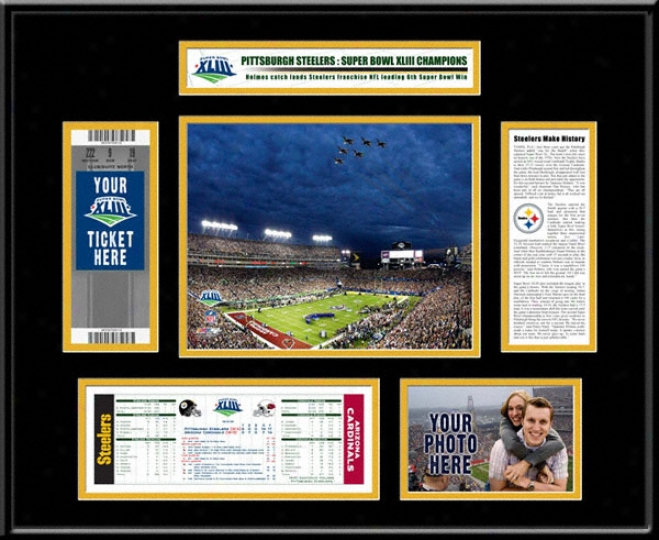 Pittsburgh Steelers Super Bowl Xliii Champions Ticket Frame