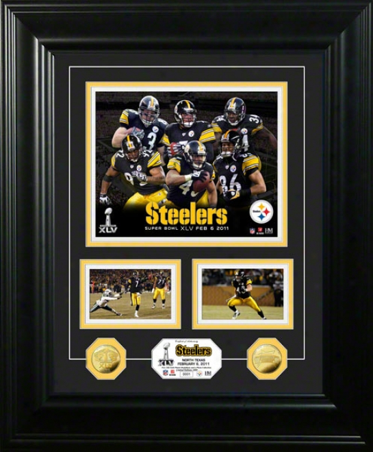 Pittsburgh Steelers Super Bowl Xlv Marquee 24kt Gold Coin Photo Invent