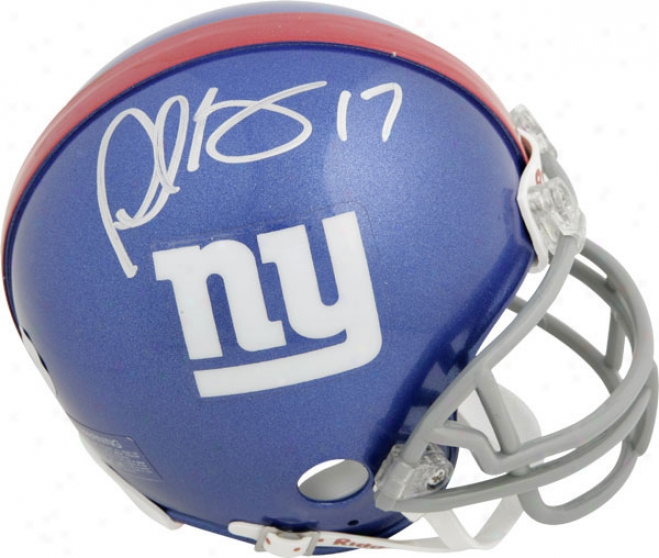 Plaxico Burress New York Giants Autographed Mini Helmet