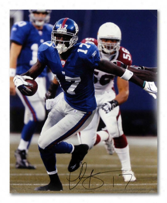 Plaxico Burress New York Giants - Vs. Cardinals - Autographed 16x20 Phogograph