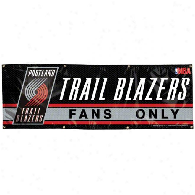 Portland Trail Blazers 2x6 Vinyl Banner