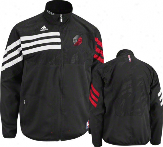 Portland Trail Blazers Blac k2011-2012 Western Conference On-court Warm-up Jacket