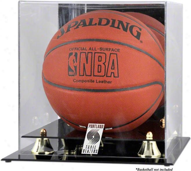 Portland Trail Blazers Golden Classic Logo Basketball Display Case
