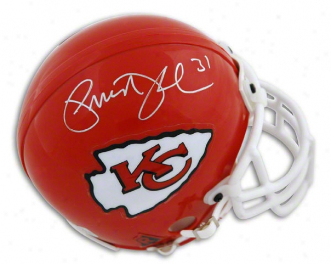 Priest Holmes Autographed Kansas City Chiefs Mini Helmet