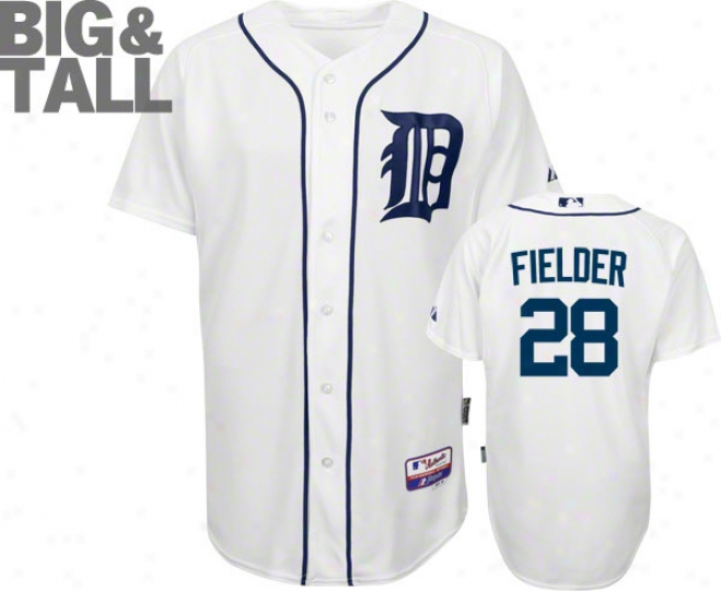 Prince Fielder Jersey: Detroit Tigers #28 Big & Tall Home Pale Trustworthy Cool Baseã¢â�žâ¢ On-field Jersey