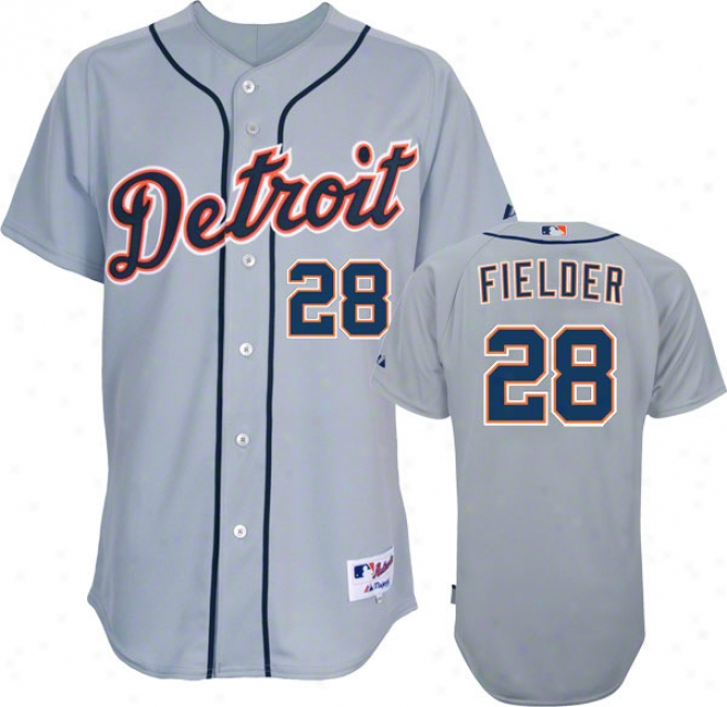 Prince Firlder Jersey: Detroit Tigers #28 Road Grey Authentic Jersey