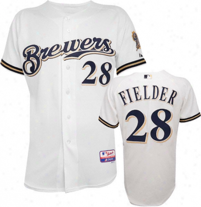 Prince Fielder Majestic Home Authentic Onfield Allay Base Milwaukee Brewer Jersey