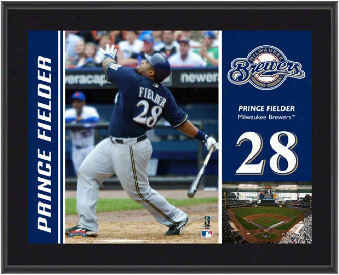Prince Fielder Plaque  Details: Milwaukee Brewers, Sublimated, 1013, Mlb Plaque