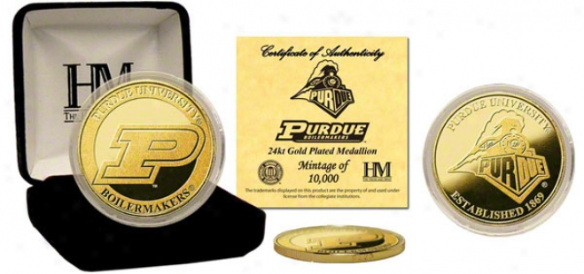 Purdue Boilermakers 24kt Gold Coin