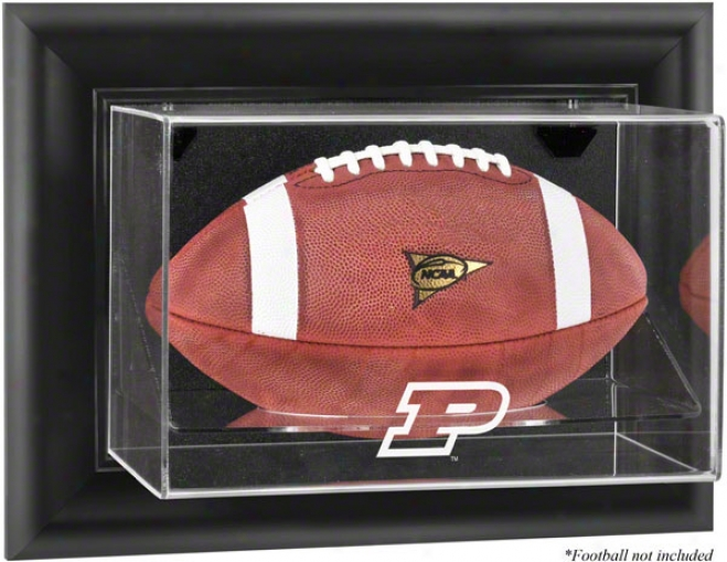 Purdue Boilermakers Framed Wall Mounted Logo Football Display Case