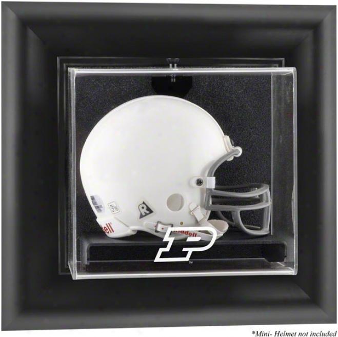 Purdue Boilermakers Framed Wall Mounted Logo Mini Helmet Display Case