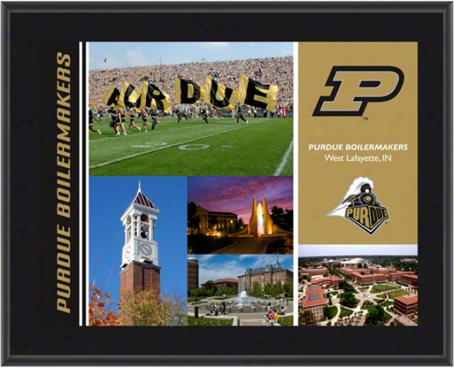 Purdue Boilermakers Plaque  Details: Sublimated, 10x13, Ncaa Plaque