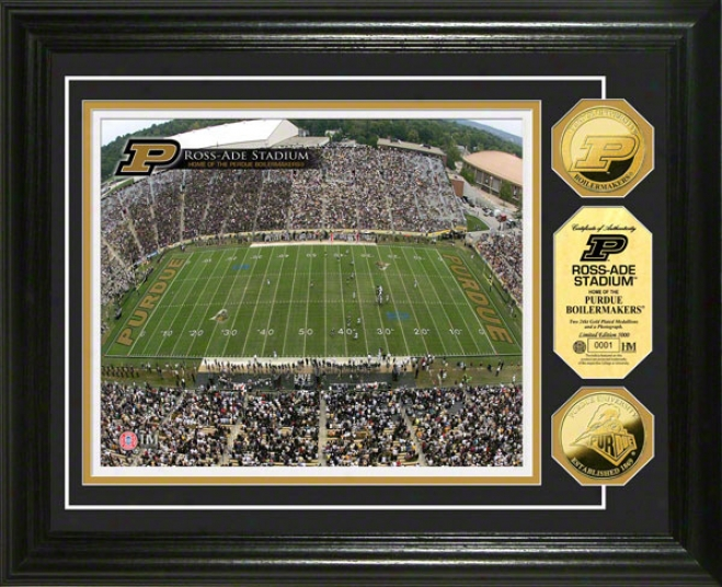 Purdue Boilermakers Ross-ade Stadium 24kt Gold Coin Photo Mint