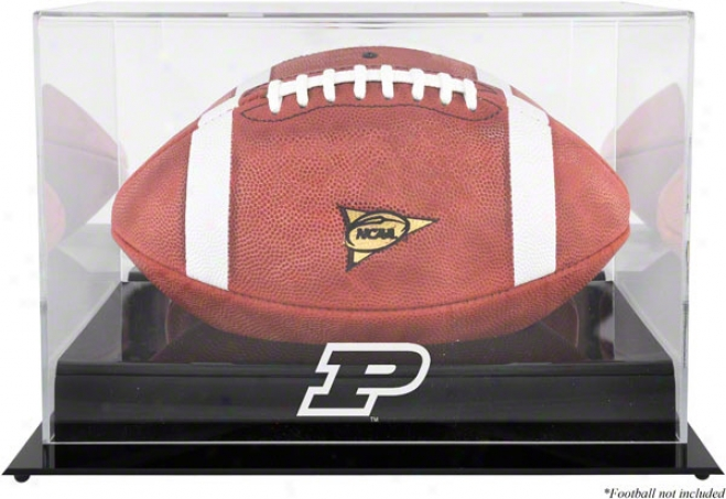 Purdue Boilermakers Team Logo Football Display Question  Details: Black Base