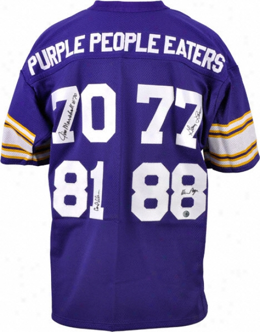 Purple People Eaters Minnesota Vikings Custom With 4 Signatures