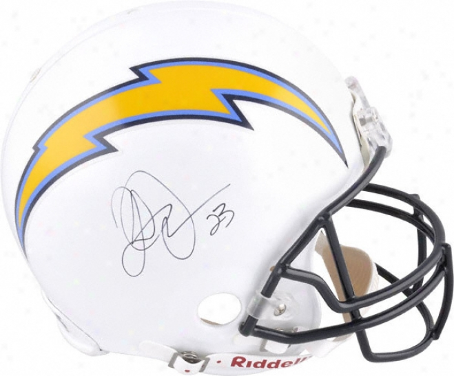 Quentin Jammer Autographed Pro-line Helmet  Particulars: San Diego Chargers, Authentic Rjddell Helmet