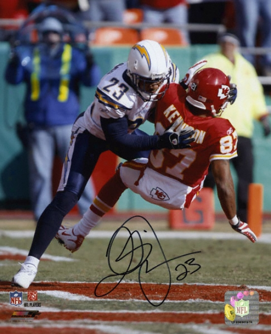 Quentin Jammer San Diego Chargers - Vs. Chiefs - Autographed 8x10 Phofograph