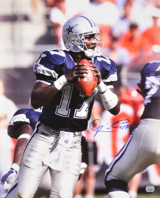 Quincy Carter Dallas Cowboys - Preparing To Pass - 16x20 Autographed Photograph