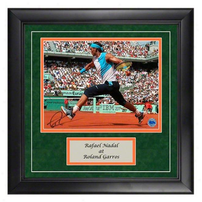 Rafael Nadal Autograph Roland Garros Framed Photograph