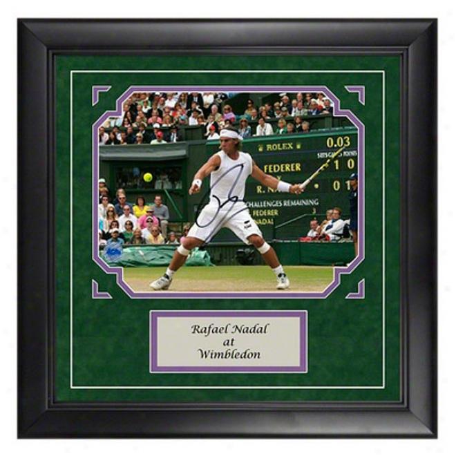Rafael Nadal Autograph Wimbledin Framed Photograph