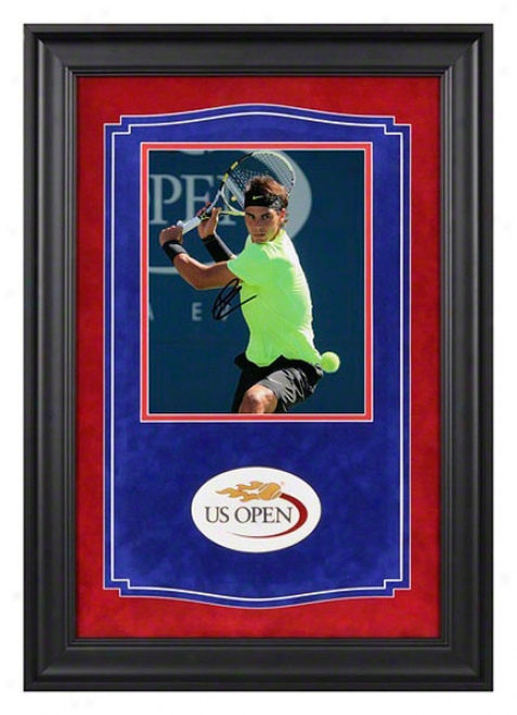 Rafael Nadal Signed 2010 Us Open Victory Autographed Framed Photograph