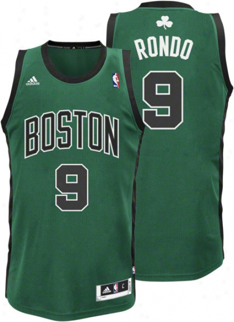 Rajon Rondo Alternate Adidas Revolution 30 Swingman Boston Cetics Jersey