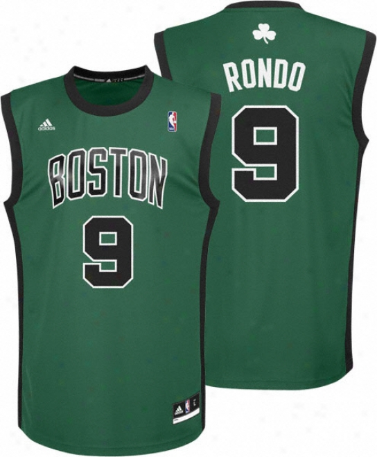 Rajon Rondo Jersey: Adidas Revolution 30 Alternate Autograph copy #9 Boston Celtics Jersey