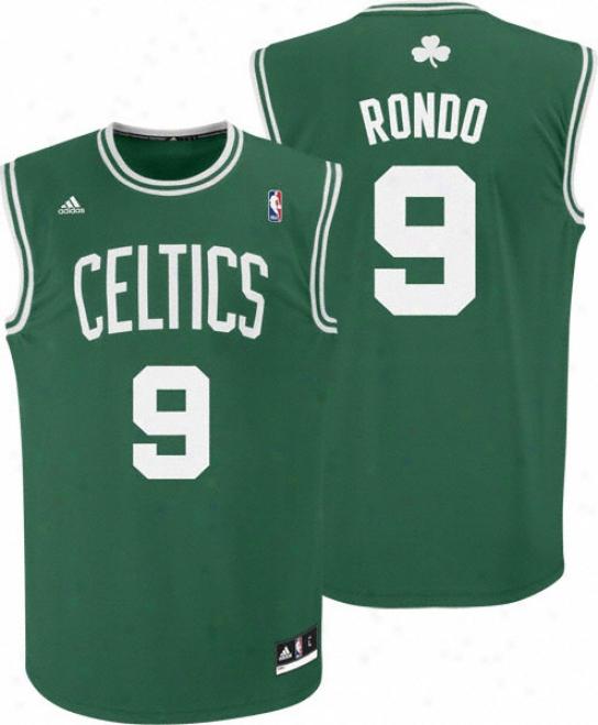 Rajon Rondo Jersey: Adidas Revolution 30 Green Replica #9 Boston Celtics Jersey