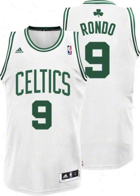 Rajon Rondo White Adidas Revolution 30 Swingman Boston Celtics Jersey
