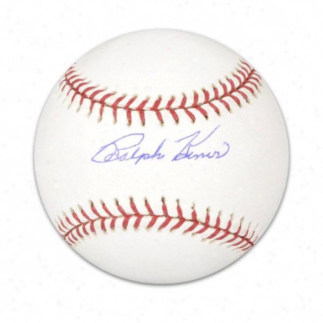 Ralph Kiner Autographed Baseball