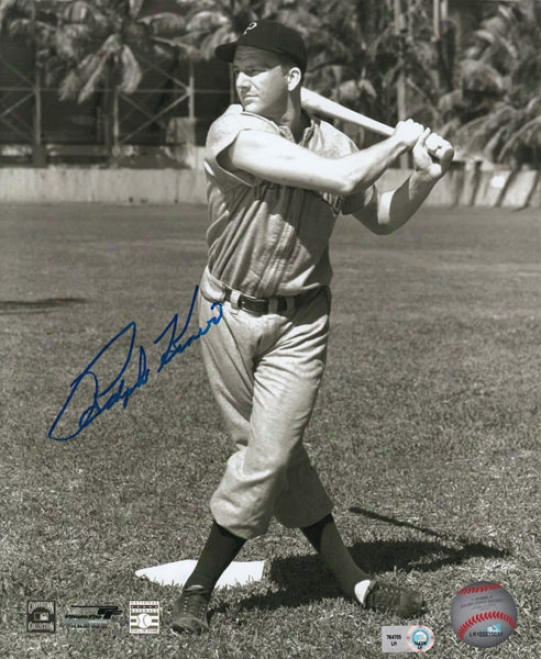 Ralph Kinerr Pittsburgy Pirates Autographed 8x10 Photograph