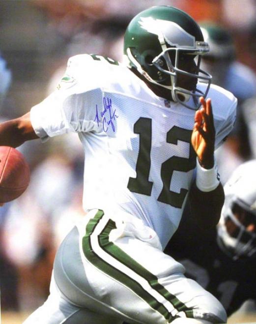 Randall Cunningham Philadelphia Eagles Autographed 16x20 Photo Running