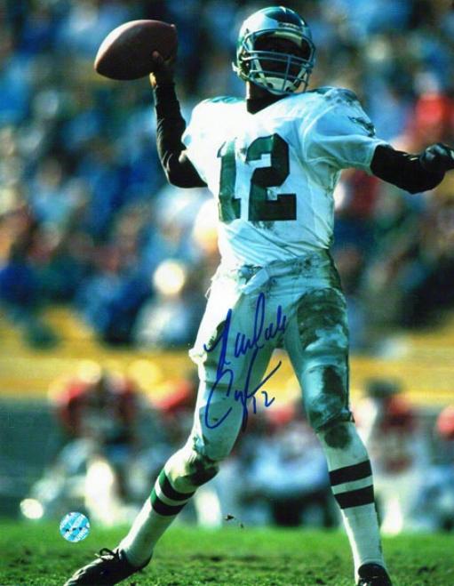 Randall Cunnlngham Philadelphia Eagles Autographed 8x10P hoto Pasisng