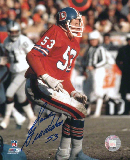Randy Gradishar Denver Broncos - Orange/action 2 - 8x10 Autographed Photograph