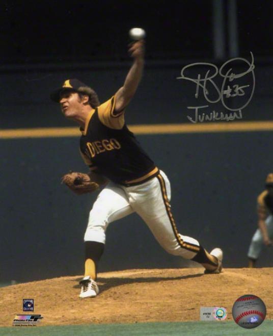 Randy Jones Autographed Photograph  Details: San Diego Padres, 8x10, Junkman Inscription