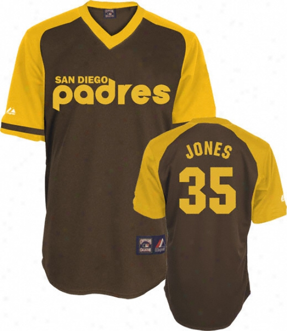Randy Jones Brown Majestic Cooperstown Throwback San Diego Padres Jersey