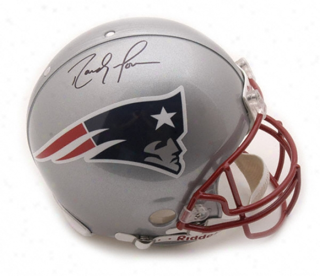 Randy Moss Autographed Pro-line Helmet  Details: New England Patriots, Authentic Riddell Helmet